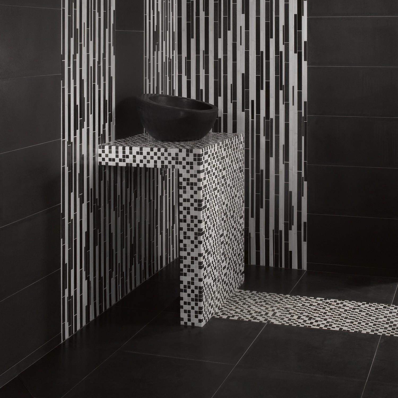 Stunning Salle De Bain Mosaique Noir Pictures - House ...