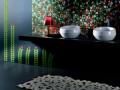 Mosaique-Vetrovivo fleurs fond noir